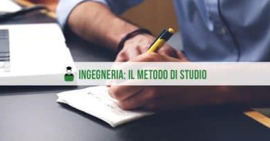 Studiare Ingegneria il metodo di studio