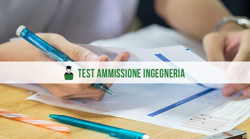 Test ammissione ingegneria