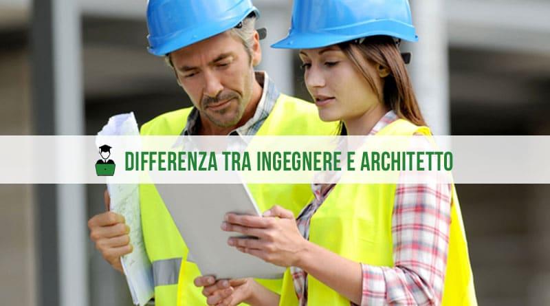 Differenza tra architetto e ingegnere